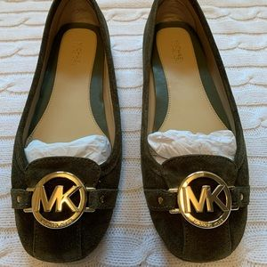 🌟MICHAEL KORS suede Fulton flats NEW IN BOX